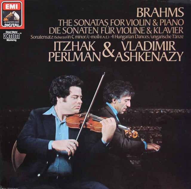 パールマン&アシュケナージのブラームス/ヴァイオリンソナタ第1~3番ほか 独EMI 3301 LP レコード