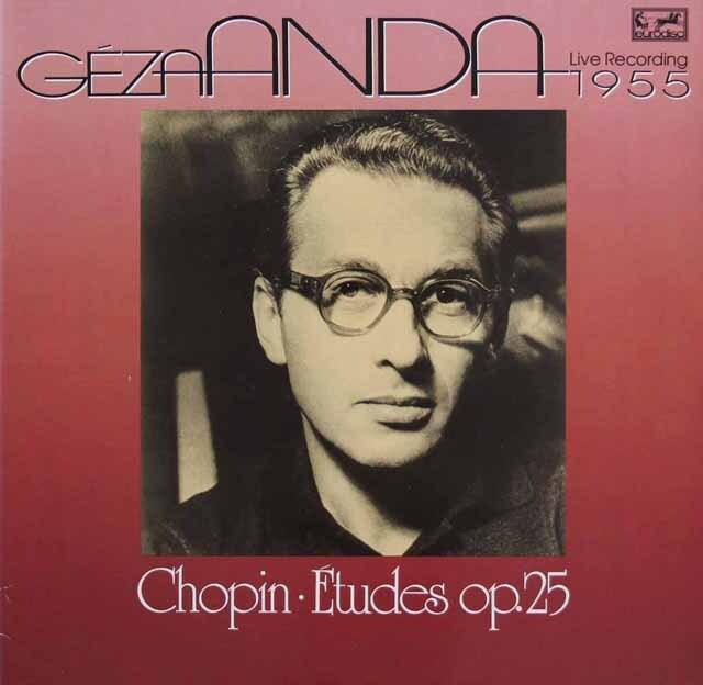 アンダのショパン/「12の練習曲」ほか 独eurodisc 3301 LP レコード