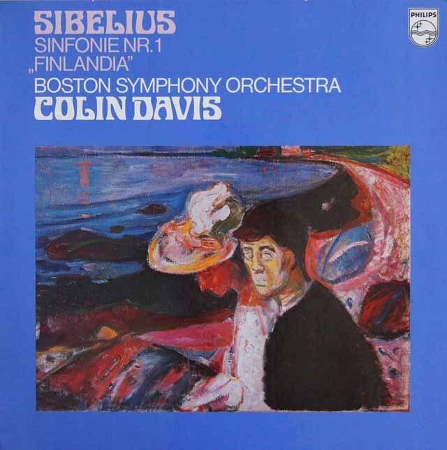 デイヴィスのシベリウス/交響曲第1番&「フィンランディア」  蘭PHILIPS 3301 LP レコード