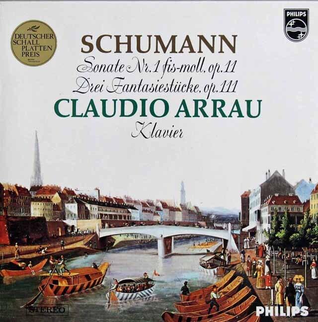 アラウのシューマン/ピアノソナタ第1番ほか 蘭PHILIPS 3301 LP レコード