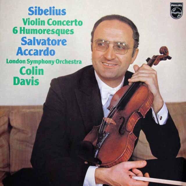 アッカルドのシベリウス/ヴァイオリン協奏曲ほか 蘭PHILIPS 3301 LP レコード
