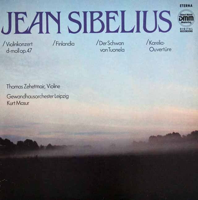ツェートマイヤー&マズアのシベリウス/ヴァイオリン協奏曲ほか 独ETERNA 3301 LP レコード