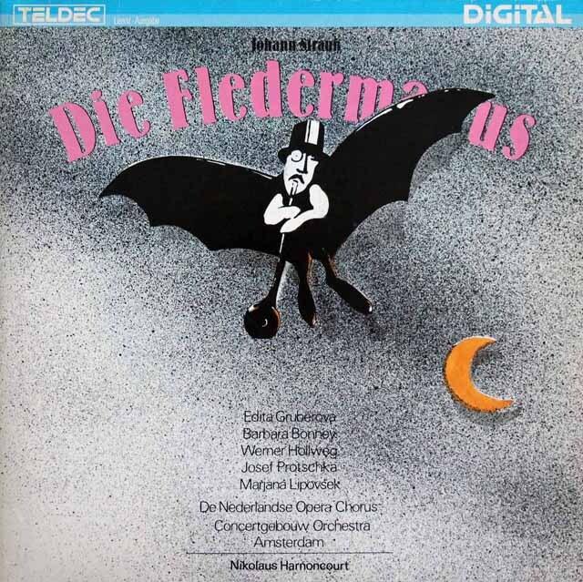 アーノンクールのJ.シュトラウスII/「こうもり」全曲 独ETERNA 3301 LP レコード