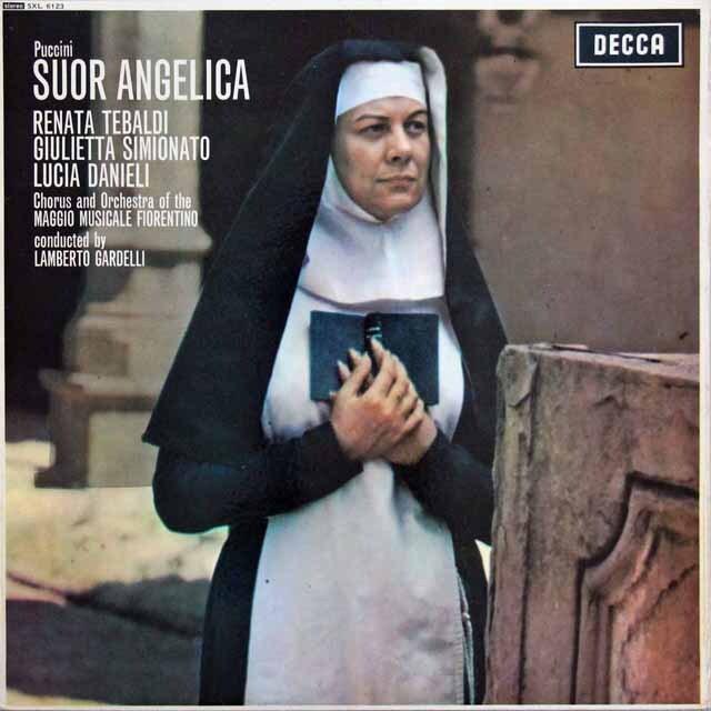【オリジナル盤】 テバルディ&ガルデルリのプッチーニ/「修道女アンジェリカ」 英DECCA 3301 LP レコード