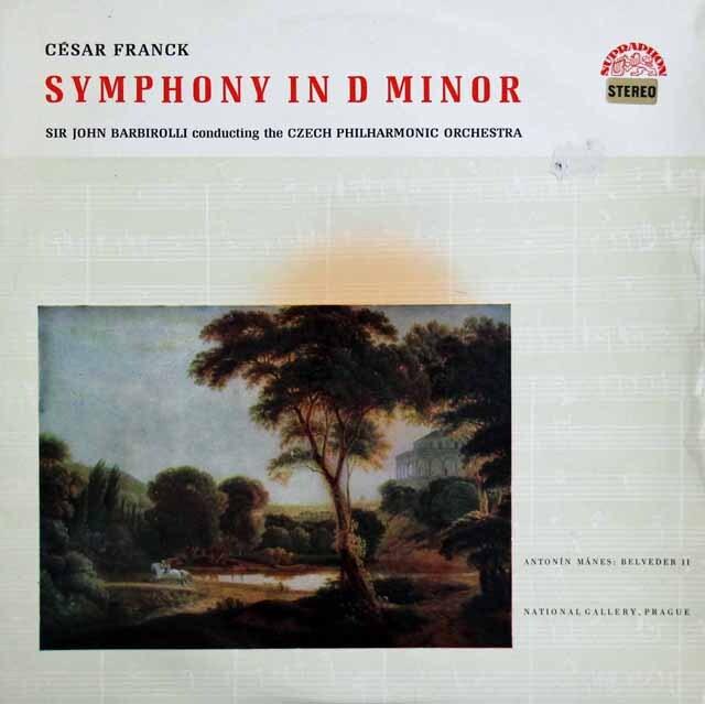バルビローリのフランク/交響曲 ニ短調 チェコSUPRAPHON 3301 LP レコード