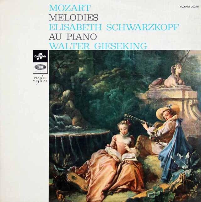 シュヴァルツコップ&ギーゼキングのモーツァルト歌曲集 仏COLUMBIA 3302 LP レコード