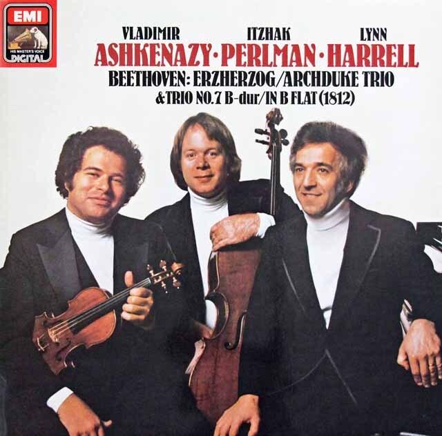 パールマン、アシュケナージ&ハレルのベートーヴェン/ピアノ三重奏曲「大公」ほか 独EMI  3302 LP レコード