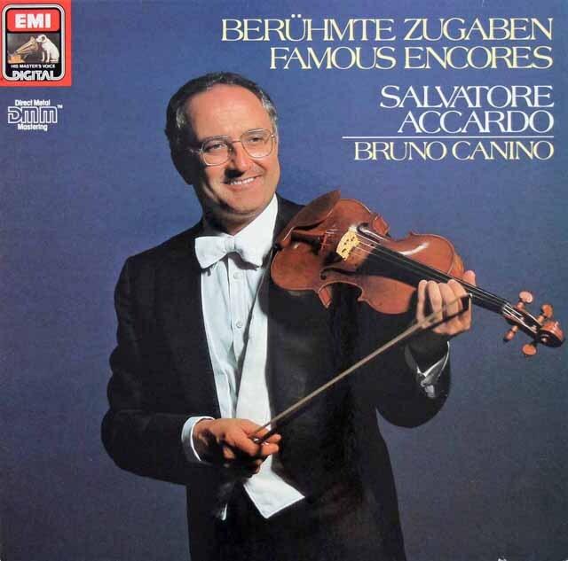 アッカルドの「ヴァイオリン小品集」 独EMI 3302 LP レコード