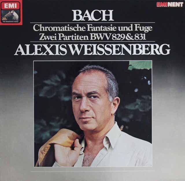 ワイセンベルクのバッハ/半音階的幻想曲とフーガほか  独EMI  3302 LP レコード