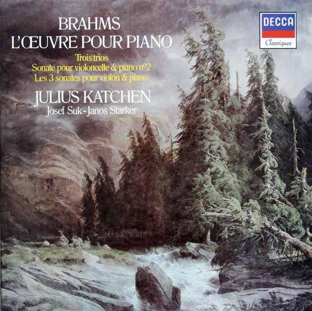カッチェンのブラームス/ピアノ曲、室内楽曲全集 仏DECCA 3302 LP レコード