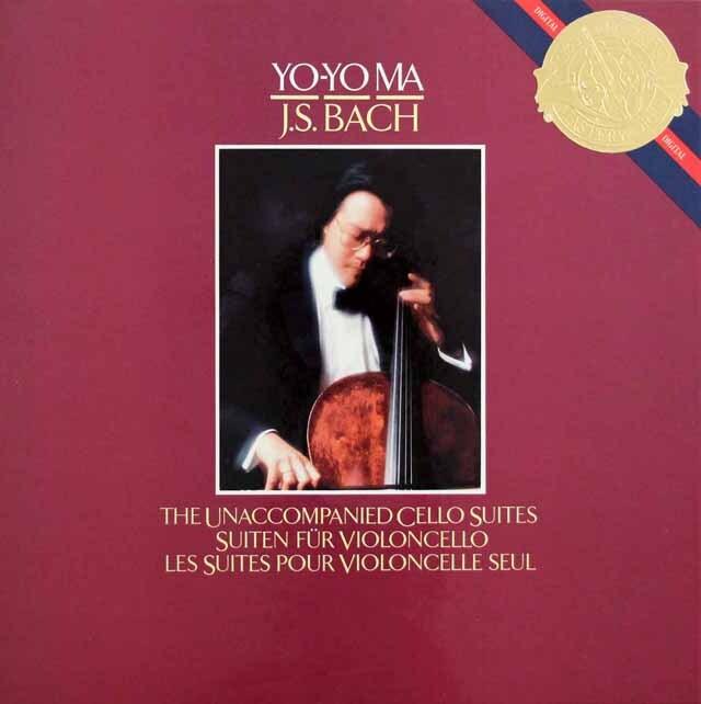 ヨーヨー・マのバッハ/無伴奏チェロ組曲(全6曲) 蘭CBS 3302 LP レコード
