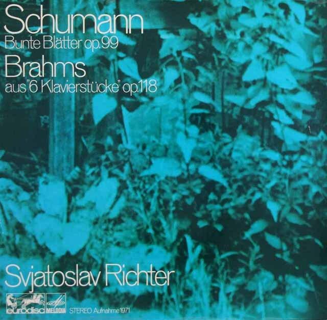 リヒテルのシューマン/「色とりどりの小品」ほか 独eurodisc 3302 LP レコード