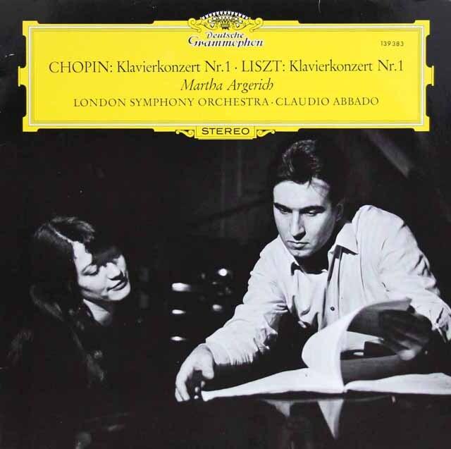 アルゲリッチ&アバドのショパン&リスト/ピアノ協奏曲 独DGG 3303 LP レコード
