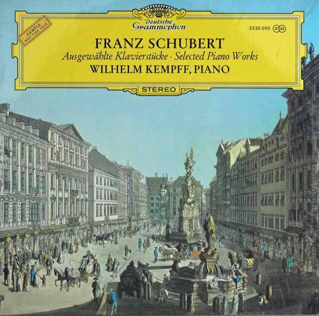 ケンプのシューベルト/3つのピアノ曲(即興曲)ほか 独DGG 3303 LP レコード