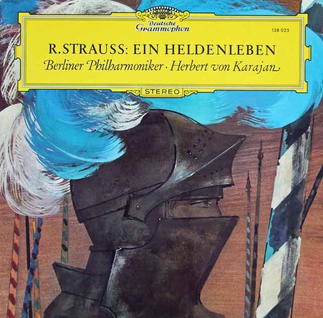 カラヤンのR.シュトラウス/交響詩「英雄の生涯」 独DGG 3303 LP レコード