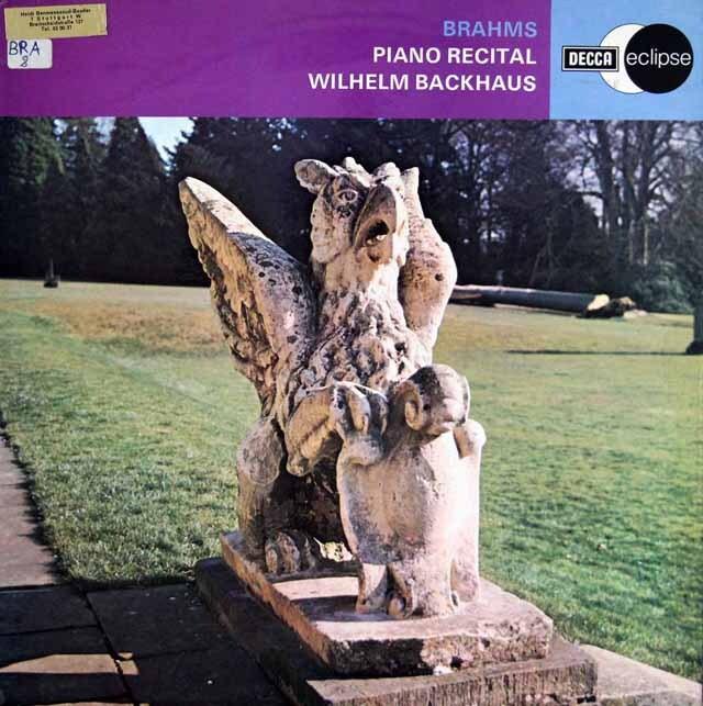 バックハウスのブラームス/ピアノ・リサイタル、6つの小品Op118ほか 英DECCA 3303 LP レコード