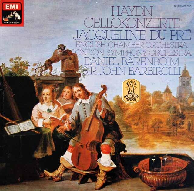デュ・プレ&バレンボイムのハイドン/チェロ協奏曲第1、2番 独EMI 3303 LP レコード