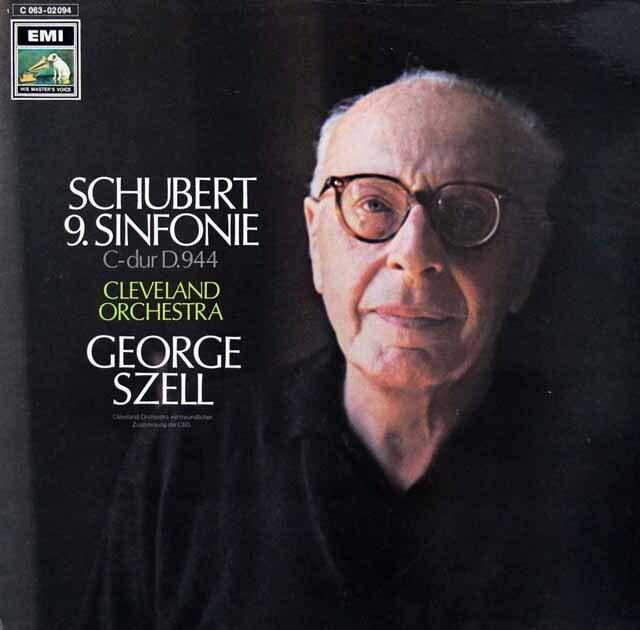 セルのシューベルト/交響曲第9番「ザ・グレイト」 独EMI   3303 LP レコード
