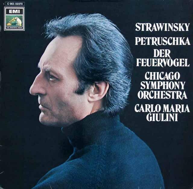 ジュリーニのストラヴィンスキー/「火の鳥」&「ペトルーシュカ」 独EMI 3303 LP レコード