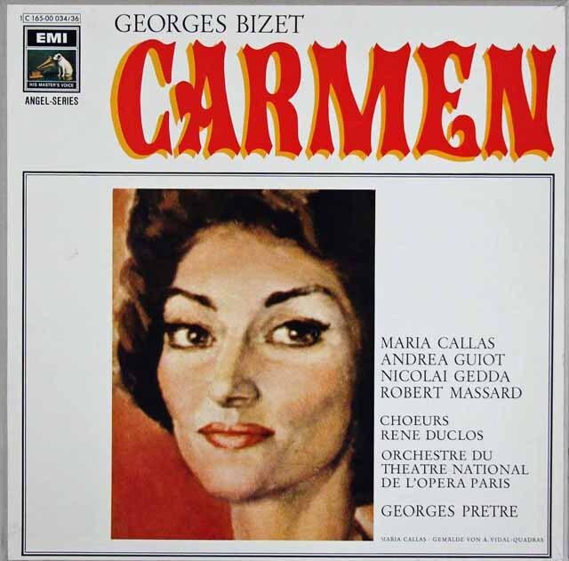 カラスのビゼー/「カルメン」全曲 独EMI 3303 LP レコード