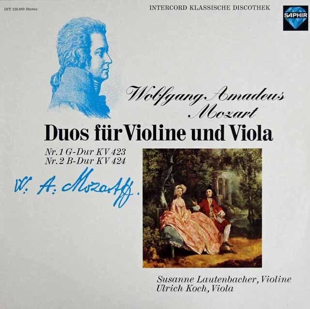 ラウテンバッハー&コッホのモーツァルト/ヴァイオリンとヴィオラのための二重奏曲第1&2番 独SAPHIR 3303 LP レコード