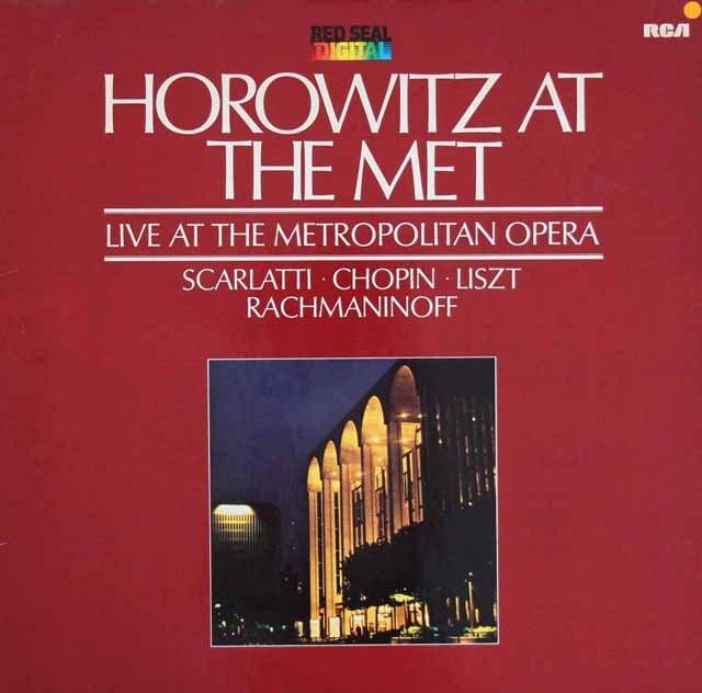 ホロヴィッツ アット ザ メット 1981(メトロポリタン歌劇場ライヴ) 独RCA 3303 LP レコード
