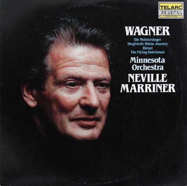 マリナーのワーグナー/序曲集 独TELARC 3303 LPレコード