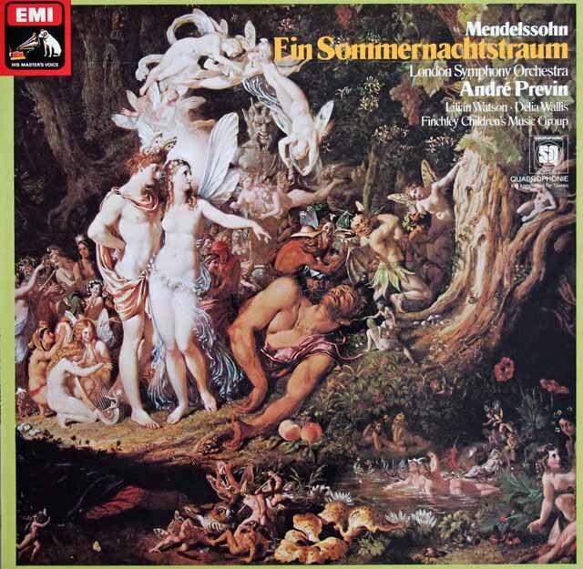 プレヴィンのメンデルスゾーン/真夏の夜の夢 独EMI 3304 LP レコード