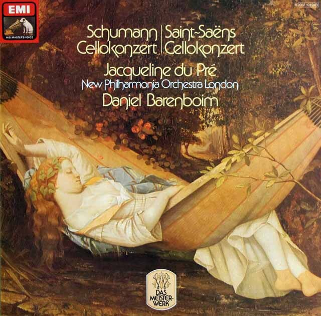 デュ・プレ&バレンボイムのシューマン/チェロ協奏曲ほか 独EMI 3304 LP レコード