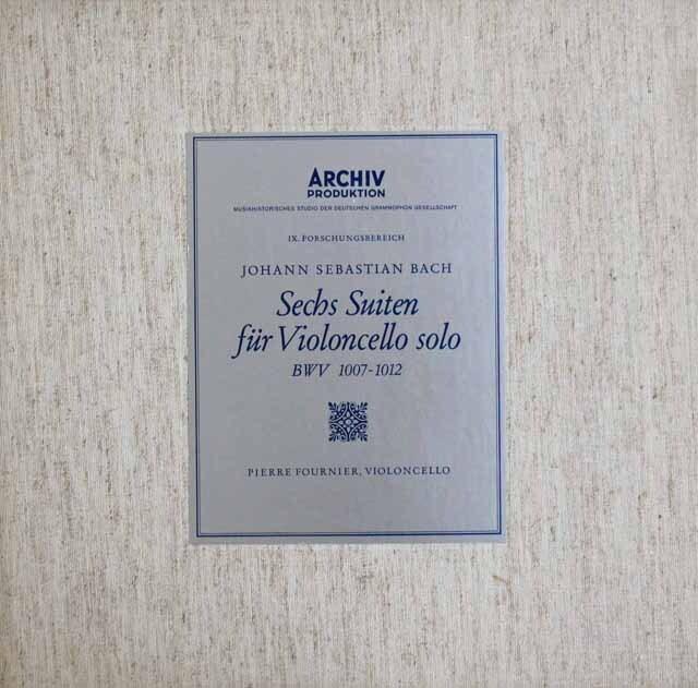 【オリジナル盤】 フルニエのバッハ/無伴奏チェロ組曲全集 独ARCHIV  3304 LP レコード