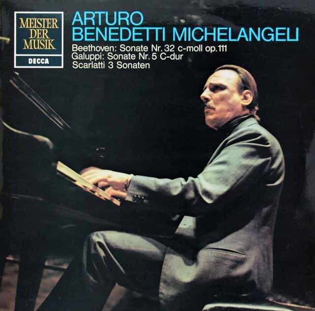 ミケランジェリのベートーヴェン/ピアノソナタ第32番ほか 独DECCA 3304 LP レコード