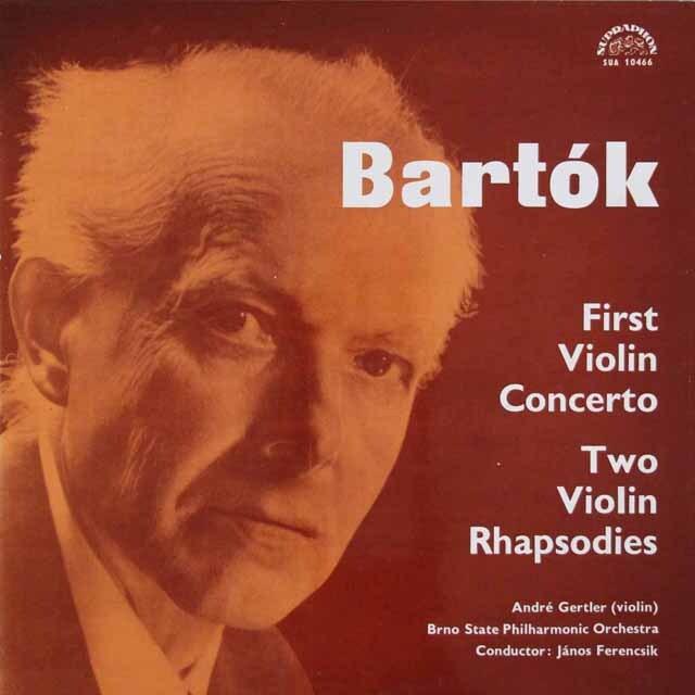 ジェルトレル&フェレンチクのバルトーク/ヴァイオリン協奏曲第1番ほか チェコスロヴァキアSUPRAPHON 3304 LP レコード