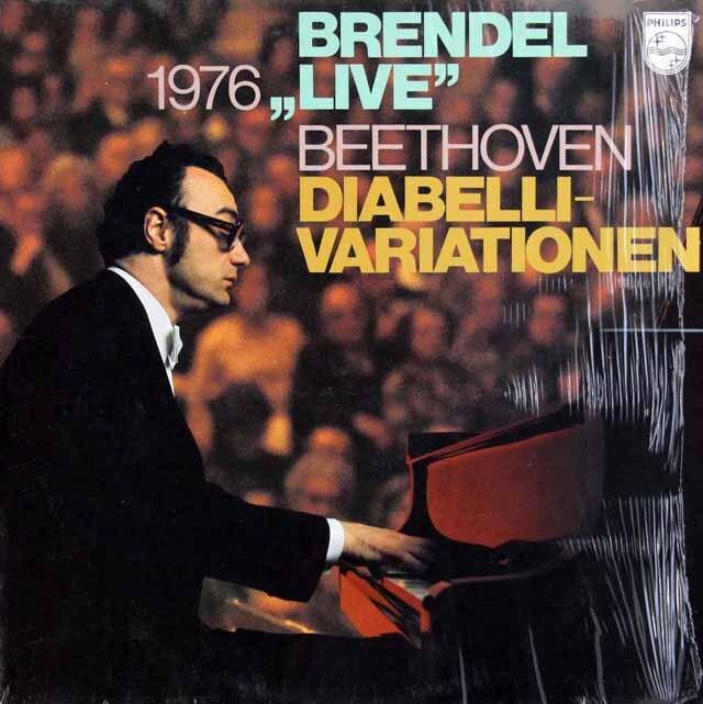 ブレンデルのベートーヴェン/「ディアベリ変奏曲」(1976年ライヴ) 蘭PHILIPS 3304 LP レコード
