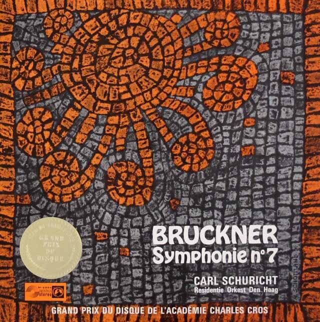 シューリヒトのブルックナー/交響曲第7番 独Concert Hall 3304 LP レコード