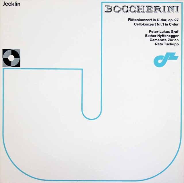 グラーフ、ニッフェネガー、チュップのボッケリーニ/フルート協奏曲、チェロ協奏曲第1番 スイスJecklin 3304 LP レコード