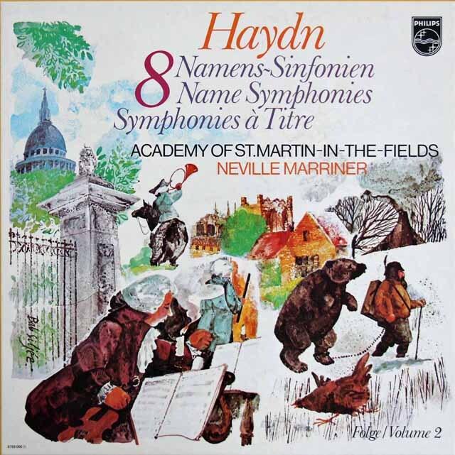 マリナーのハイドン/「12の名前付き交響曲集(驚愕、軍隊ほか)」 蘭PHILIPS 3334 LP レコード