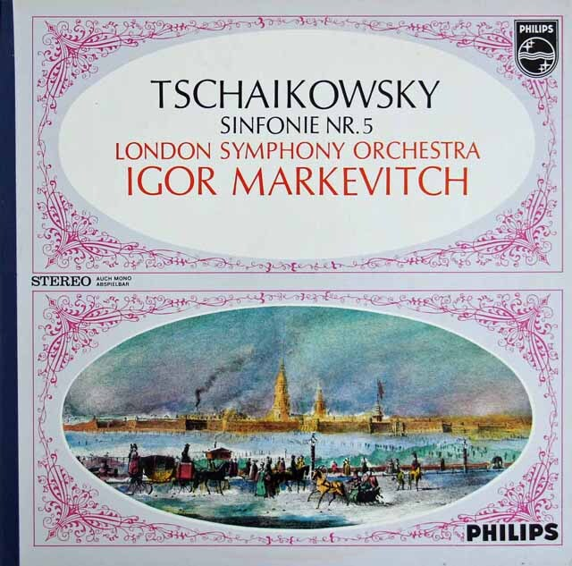 マルケヴィチのチャイコフスキー/交響曲第5番   蘭PHILIPS  3305 LP レコード