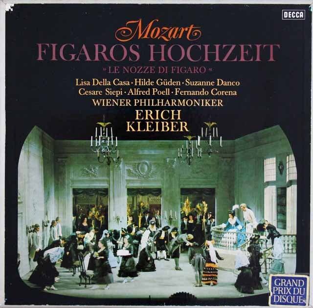エーリヒ・クライバーのモーツァルト/「フィガロの結婚」全曲 独DECCA 3305 LP レコード