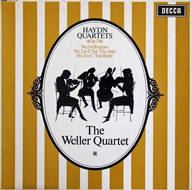 ウェラー四重奏団のハイドン/弦楽四重奏曲「冗談」「鳥」ほか 英DECCA 3305 LP レコード
