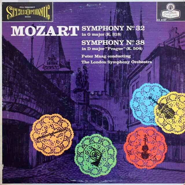 【ブルー・バック・ジャケット】マークのモーツァルト/交響曲第38番「プラハ」ほか 英LONDON 3305 LP レコード