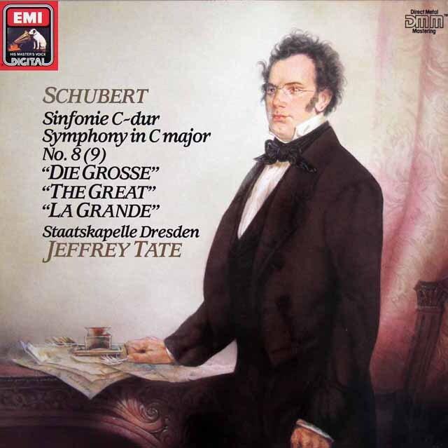 テイトのシューベルト/交響曲第8(9)番「ザ・グレート」 独EMI 3305 LP レコード