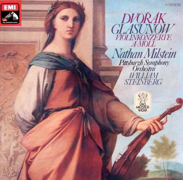 ミルシュタインのドヴォルザーク&グラズノフ/ヴァイオリン協奏曲 独EMI 3305 LP レコード