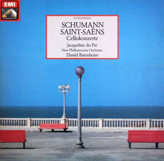 デュ・プレ&バレンボイムのシューマン/チェロ協奏曲ほか 独EMI 3305 LP レコード