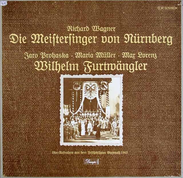 フルトヴェングラーのワーグナー/「ニュルンベルクのマイスタージンガー」 独Dacapo(EMI) 3305 LP レコード
