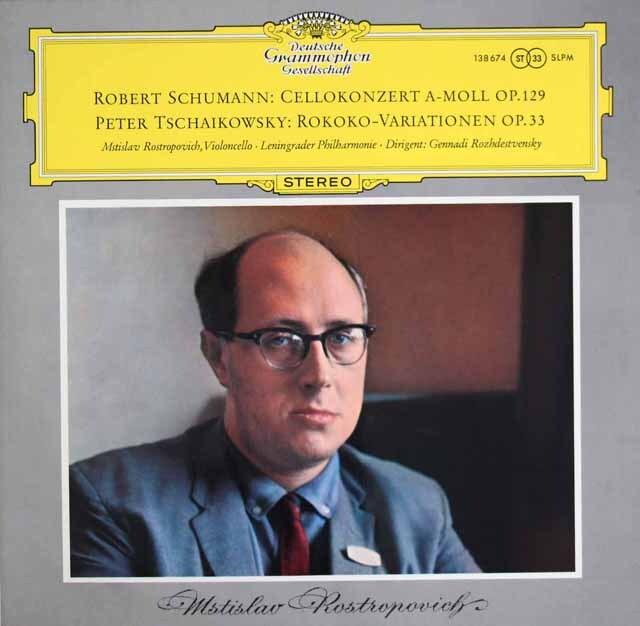 【独最初期盤】ロストロポーヴィチのシューマン/チェロ協奏曲ほか 独DGG 3305 LP レコード