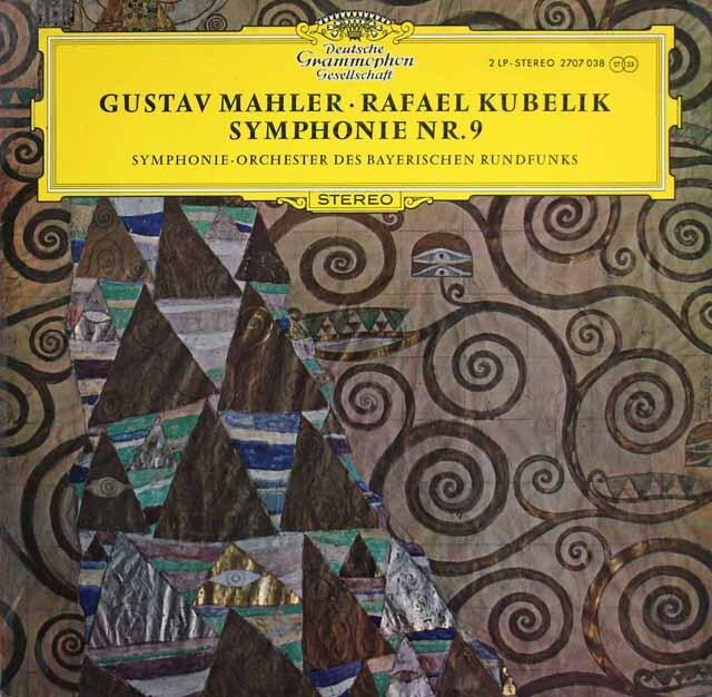クーベリックのマーラー/交響曲第9番 独DGG 3305 LP レコード