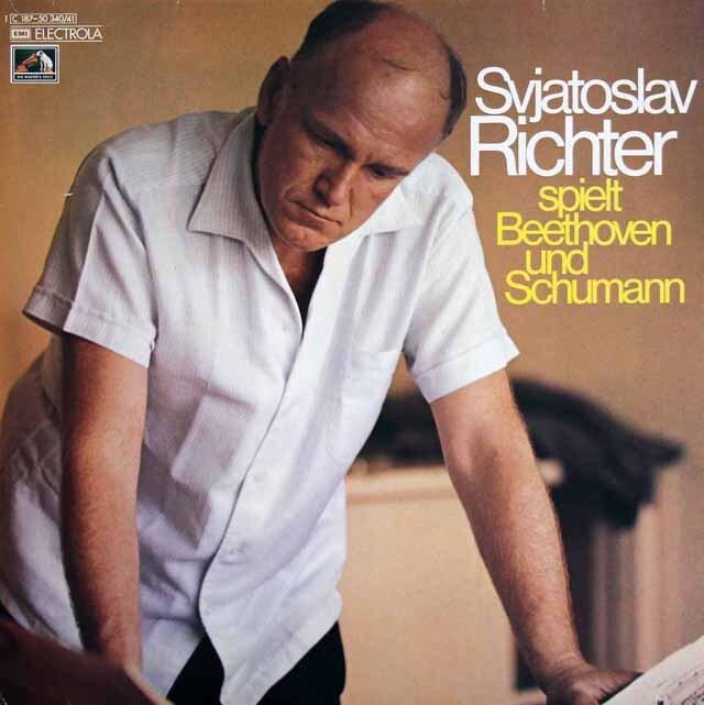 リヒテルのベートーヴェン/「テンペスト」&シューマン/「蝶々」ほか 独EMI 3305 LP レコード