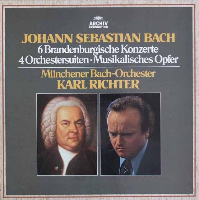 リヒターのバッハ/ブランデンブルク協奏曲&管弦楽組曲ほか 独ARCHIV 3305 LP レコード