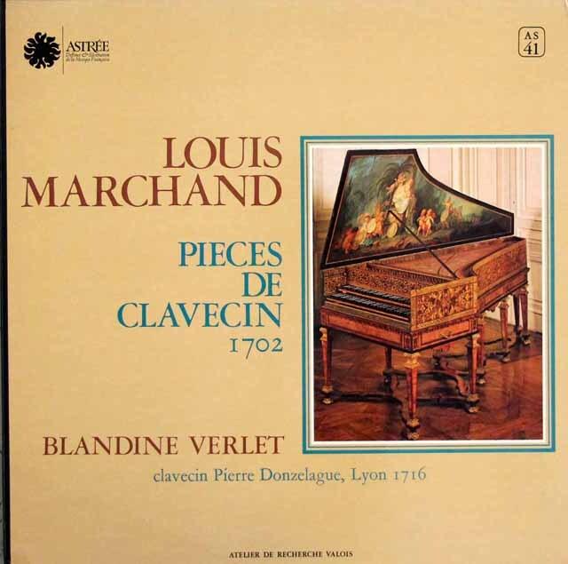 ヴェルレのマルシャン/クラヴサン曲集 第1巻、第2巻 仏ASTREE 3306 LP レコード
