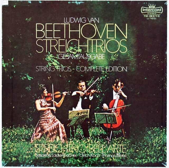 ラウテンバッハーらベルアルテ・トリオのベートーヴェン/弦楽三重奏曲全集 独Intercord 3306 LP レコード